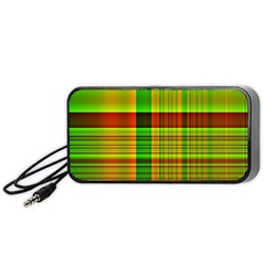 Multicoloured Background Pattern Portable Speaker (Black)