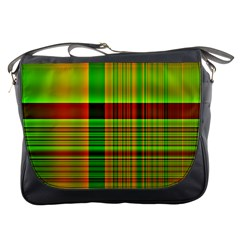 Multicoloured Background Pattern Messenger Bags
