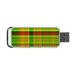 Multicoloured Background Pattern Portable Usb Flash (one Side)