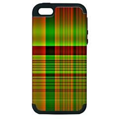 Multicoloured Background Pattern Apple Iphone 5 Hardshell Case (pc+silicone)