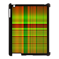 Multicoloured Background Pattern Apple iPad 3/4 Case (Black)