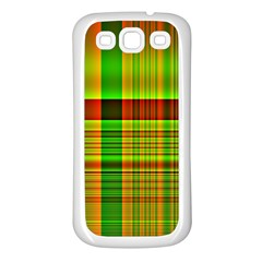 Multicoloured Background Pattern Samsung Galaxy S3 Back Case (white)