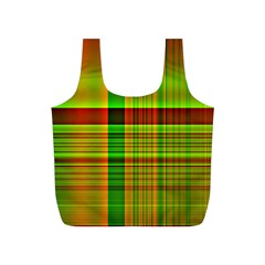 Multicoloured Background Pattern Full Print Recycle Bags (s)