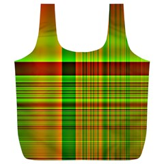 Multicoloured Background Pattern Full Print Recycle Bags (l)