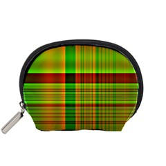 Multicoloured Background Pattern Accessory Pouches (Small)