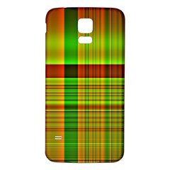 Multicoloured Background Pattern Samsung Galaxy S5 Back Case (white)