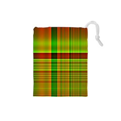 Multicoloured Background Pattern Drawstring Pouches (small)