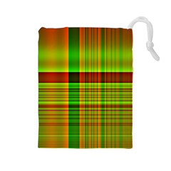 Multicoloured Background Pattern Drawstring Pouches (large)