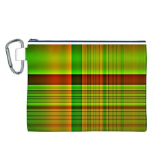 Multicoloured Background Pattern Canvas Cosmetic Bag (l)