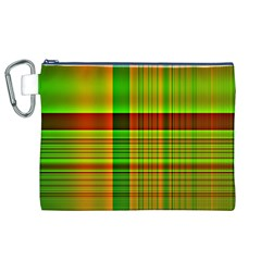 Multicoloured Background Pattern Canvas Cosmetic Bag (XL)