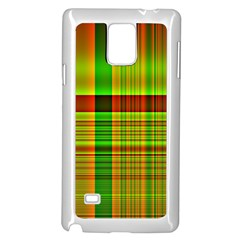 Multicoloured Background Pattern Samsung Galaxy Note 4 Case (white)