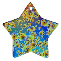 Color Particle Background Ornament (star)