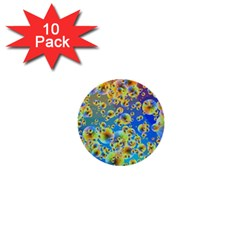 Color Particle Background 1  Mini Buttons (10 pack)