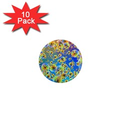 Color Particle Background 1  Mini Magnet (10 Pack)