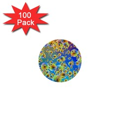 Color Particle Background 1  Mini Buttons (100 Pack)