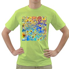 Color Particle Background Green T-Shirt