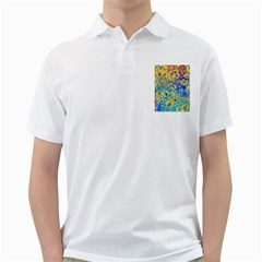 Color Particle Background Golf Shirts