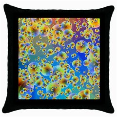 Color Particle Background Throw Pillow Case (Black)