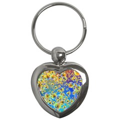 Color Particle Background Key Chains (Heart)