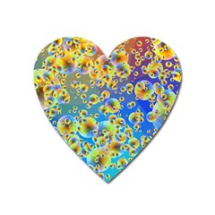 Color Particle Background Heart Magnet