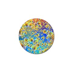 Color Particle Background Golf Ball Marker (4 pack)