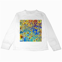 Color Particle Background Kids Long Sleeve T Shirts
