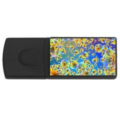 Color Particle Background Usb Flash Drive Rectangular (4 Gb)