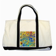 Color Particle Background Two Tone Tote Bag