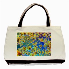 Color Particle Background Basic Tote Bag (two Sides)