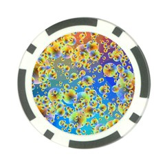 Color Particle Background Poker Chip Card Guard