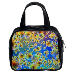 Color Particle Background Classic Handbags (2 Sides)