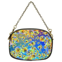 Color Particle Background Chain Purses (one Side)