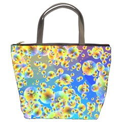 Color Particle Background Bucket Bags