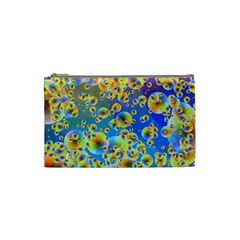 Color Particle Background Cosmetic Bag (Small)