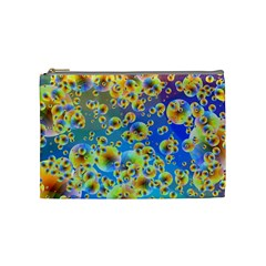 Color Particle Background Cosmetic Bag (Medium)