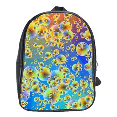 Color Particle Background School Bags(Large)