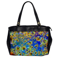 Color Particle Background Office Handbags