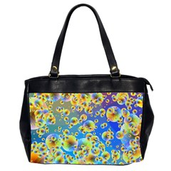 Color Particle Background Office Handbags (2 Sides)