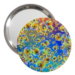 Color Particle Background 3  Handbag Mirrors