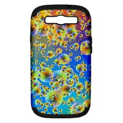 Color Particle Background Samsung Galaxy S Iii Hardshell Case (pc+silicone)