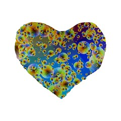 Color Particle Background Standard 16  Premium Heart Shape Cushions