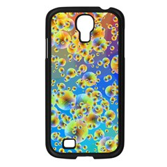 Color Particle Background Samsung Galaxy S4 I9500/ I9505 Case (black)