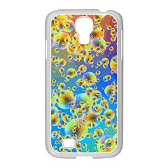 Color Particle Background Samsung Galaxy S4 I9500/ I9505 Case (white)