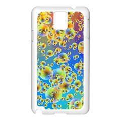 Color Particle Background Samsung Galaxy Note 3 N9005 Case (white)