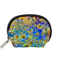 Color Particle Background Accessory Pouches (small)