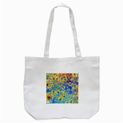 Color Particle Background Tote Bag (white)