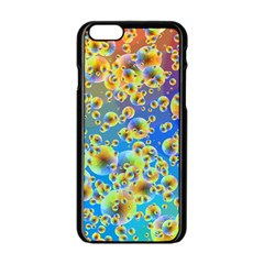 Color Particle Background Apple Iphone 6/6s Black Enamel Case