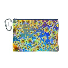 Color Particle Background Canvas Cosmetic Bag (M)