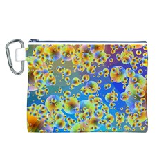 Color Particle Background Canvas Cosmetic Bag (l)