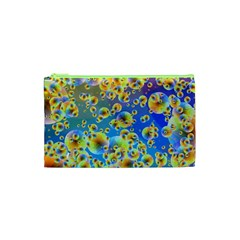 Color Particle Background Cosmetic Bag (xs)